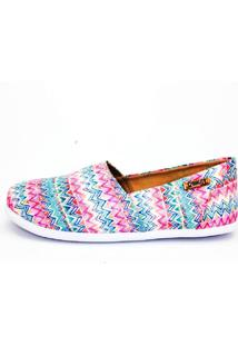 Alpargata Quality Shoes 001 Étnico Rosa - Kanui
