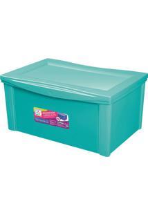 Caixa Organizadora Color- Verde Água- 30,7X63,5X42,5Ordene