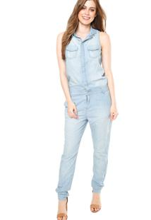 Macacão Jeans Calvin Klein Jeans Bolsos Azul