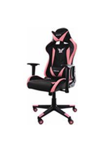 Cadeira Gamer Pro Eaglex Giratoria Reclinavel Ajuste De Altura - Rosa