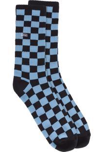 Meia Masculina Mn Checkboard Crew - Azul