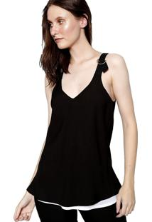 Blusa Dupla Face Energia Fashion Preto