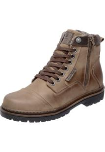 Bota Coturno Em Couro Mega Boots 6017 Nude
