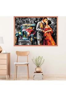 Quadro Love Decor Com Moldura Eterno Amor Rose Metalizado Mã©Dio - Multicolorido - Dafiti