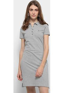 Vestido Polo Tommy Hilfiger New Chiara Polo Dress - Feminino-Mescla