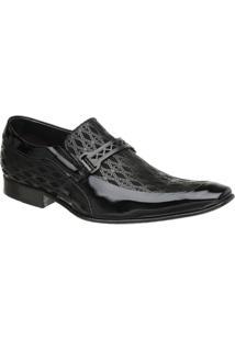 Sapato Malbork Em Couro Verniz E Nobuck Estampado 353 - Masculino
