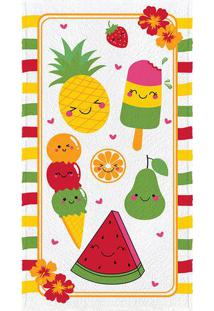Toalha De Banho Felpuda Fruit- Amarela & Verde- 60X1Lepper