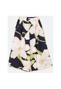 Calça Pantalona Em Viscose Com Estampa Floral