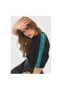 Camiseta Triton Lettering Preta/Verde
