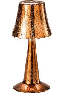 Candelabro De Vidro Formato De Abajur - Lyor Classic Dourado
