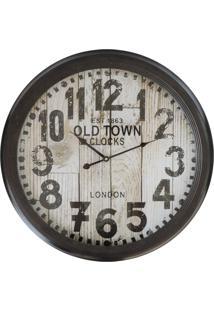 Relógio Kasa Ideia De Parede Old Town 62Cm