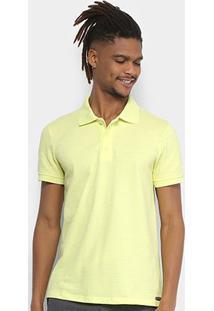 Camisa Polo Kohmar Piquet Básica Masculina - Masculino-Amarelo Claro