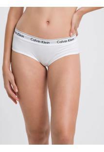 Calcinha Short Modern Cotton - Branco - G