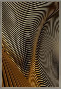 Quadro Decorativo Abstrato- Prateado & Marrom Claro-Arte Prã³Pria