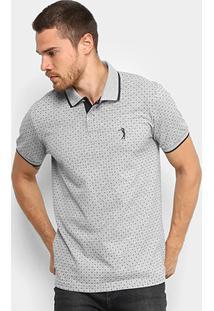 5401ce6e07 ... Camisa Polo Aleatory Piquet Mini Estampa Masculina - Masculino-Mescla