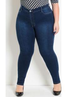 Calça Cigarrete Plus Size Jeans