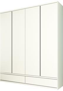 Guarda Roupa 4 Pts Stillus Branco Tcil Móveis - Tricae