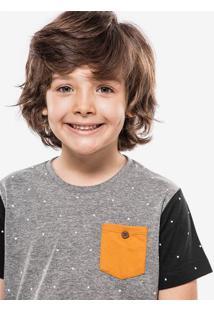Camiseta Estampada Bolso Mostarda Niños 500004