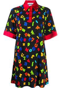 Moschino Magnet Print Dress - Preto