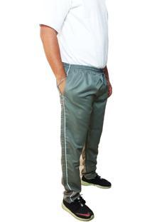 Calça Cós Elástico Volver Plus Size Cinza