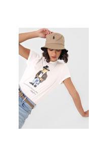 Camiseta Polo Ralph Lauren Urso Off-White