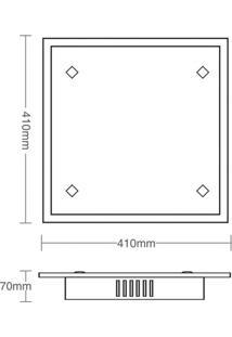 Plafon Taschibra Zimbros - 4 Lâmpadas Branco