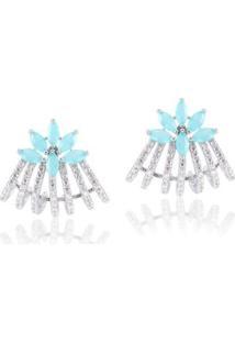 Brinco Giullia Ferraz Store Ear Cuff Lia Feminino - Feminino-Azul Claro