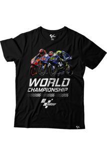 Camiseta Motogp Fan Championship - Preta Grid Motors Fan Championship Preto