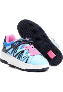Tênis Heelys Pop Com Rodas Retráteis - Feminino-Azul+Rosa