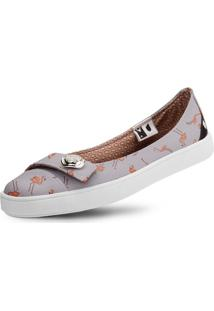 Sapatilha Usthemp Womanly Vegano Casual Estampa Flamingo Cinza
