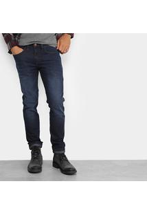 Calça Jeans Slim Colcci Alex Escura Stone Masculina - Masculino