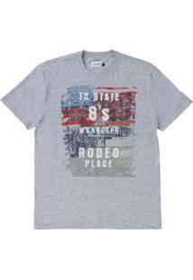 Camiseta Estampada Wrangler Masculina - Masculino-Cinza