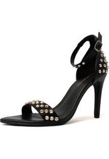Sandália Sunny Spikes Damannu Shoes Feminina - Feminino-Preto