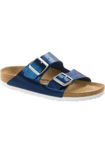 Sandália Birkenstock Arizona Metalizada- Azul Escuro & Bbirkenstock