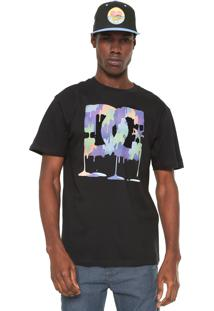 Camiseta Dc Shoes Painted Rock Preta