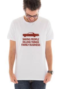 Camiseta Manga Curta Touts Family Business Branco