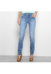 d4e012dd2 ... Calça Jeans Reta Colcci Katy Cintura Média Feminina - Feminino-Azul  Claro