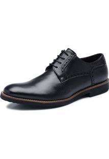 Sapato De Couro Viccini Brogue Tivoli-02 Preto
