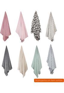 Cobertor Solteiro Flannel Ii Colorido 150X220 Cm