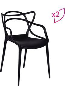 Jogo De Cadeiras De Jantar Solna- Preto- 2Pã§S- Oor Design