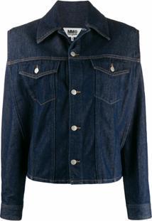 Mm6 Maison Margiela Jaqueta Jeans Cropped - Azul