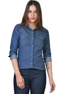 Camisa Jeans Yck'S Azul