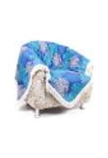 Manta Decorativa Para Sofá Ou Poltrona 1,50M X 1,50M Valence Azul