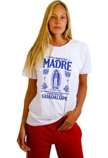 Camiseta Joss Feminina Estampada Madre - Feminino-Branco
