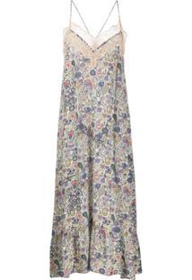 Zadig&Voltaire Slip Dress Floral - Neutro