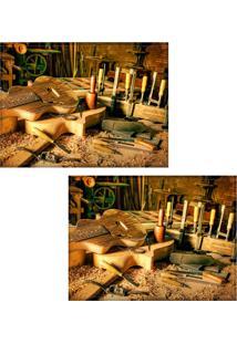 Jogo Americano Colours Creative Photo Decor - Lutiê - 2 Peças