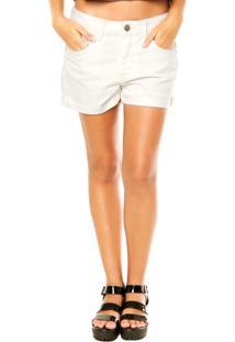 Bermuda Coca-Cola Jeans Bolsos Off-White