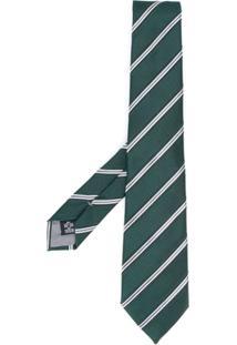 Emporio Armani Gravata Listrada - Verde