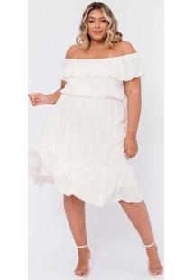 Vestido Almaria Plus Size Tal Qual Midi Com Lurex