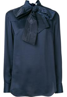 Thom Browne Bow Detail Blouse - Azul